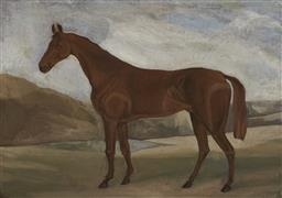 Sale 9178 - Lot 559 - ATTRIBUTED TO FREDERICK WOODHOUSE SNR (1820 - 1909) - Equine Study 21.5 x 31 cm (frame: 44 x 53 x 4 cm)
