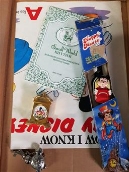 Sale 9254 - Lot 2342 - Box of Mickey Mouse Sundries