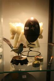 Sale 7876 - Lot 85 - Emu Egg & Other Wares incl a Cloisonne Figure of a Bird