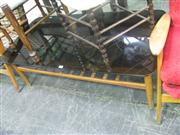 Sale 7933A - Lot 1182 - Parker Style Coffee Table with Smokey Glass