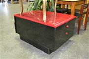 Sale 7987A - Lot 1164 - Pair Of Modern Bedsides In Black And Red