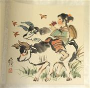 Sale 8153 - Lot 15 - Chinese Artists Album Attributed to Cheng Shifa (1921-2007)