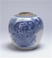 Sale 8376A - Lot 93 - Chinese flower vase with seal mark to base, W: 9.5cm, Ht: 10cm