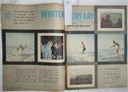 Sale 8431B - Lot 57 - Article, Winter Surfari, by Neville Waker. Two pages in Everybody Magazine. August 5, 1964