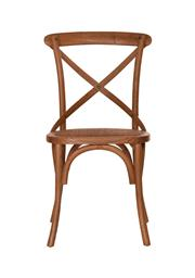 Sale 8473A - Lot 90 - A set of 8 light timber cross back dining chairs with timber strap and rattan seat, H 88 x W 49 x D 52cm