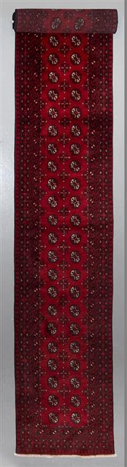 Sale 8545C - Lot 96 - Afghan Turkman Runner 590cm x 80cm