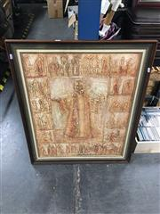 Sale 8720 - Lot 2098 - Marion Purvis - Religious Scene , mixed media on board, 88 x 72.5cm (frame size), signed lower left