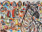 Sale 8837A - Lot 5038 - Yosi Messiah (1964 - ) - Playful Harbour 91.5 x 122cm