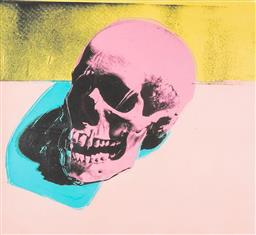 Sale 9187JM - Lot 5003 - ANDY WARHOL (1928 - 1987) Skull offset digital lithograph on Arches paper, 81/100 34 x 37 cm (frame: 65 x 58 x 3 vm) numbered in pen...