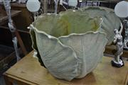 Sale 7981A - Lot 1024 - Lettuce Themed Garden Pot