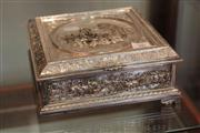 Sale 8040 - Lot 100 - Silver Plated Relief Box