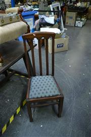 Sale 8035 - Lot 1019 - Set of Four Slat Back Dining Chairs