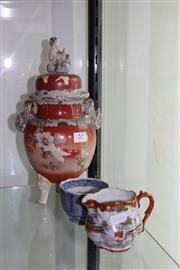 Sale 8151 - Lot 55 - Japanese Vase with Other Two Tea Wares A/F