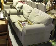 Sale 8499 - Lot 1089 - Modern Grey Upholstered Three Seater & Two Seater Sofas