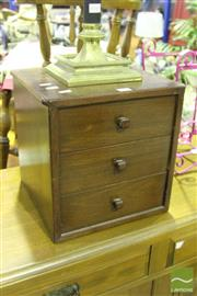 Sale 8499 - Lot 1047 - Small Three Drawer Collectors Cabinet