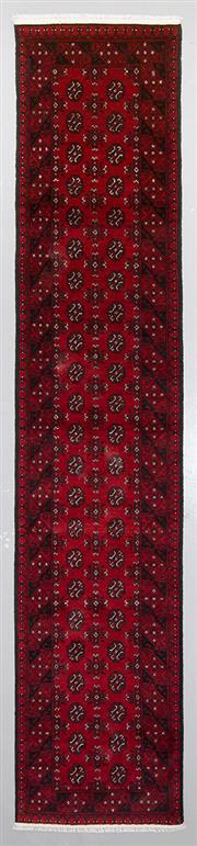 Sale 8545C - Lot 97 - Afghan Turkman Runner 380cm x 82cm