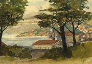 Sale 8753 - Lot 2032 - Lily Scott (1895 - 1971) - Oriental Bay, Wellington 1933 16 x 23cm