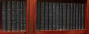 Sale 8795A - Lot 51 - A collection of 22 volumes by J.B.Priestly in blue leather bindings