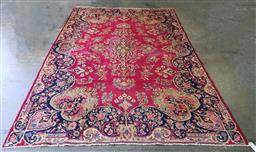 Sale 9151 - Lot 1243 - Red tone Persian yazad (277 x 254cm)