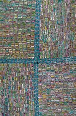 Sale 9239A - Lot 5058 - REBECCA JONES PITJARA Bush Yam acrylic on canvas 201 x 131 cm (stretched and ready to hang) signed verso; certificate of authenticit...