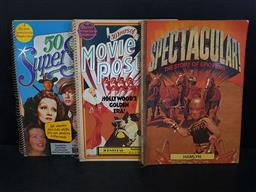 Sale 9254 - Lot 2028 - 3 ring Bound Movie Books : 50 Super Stars, ed. J. Kobal; 50 Years of Movie Postersalso Lobby Cards Campaign Material, ed. J. Kob...