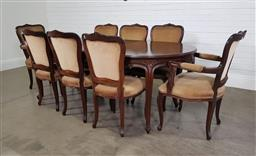 Sale 9255 - Lot 1227 - French style 9 piece dining suite with Extension table and 8 chairs (h:78 x w:174 x d:106cm)