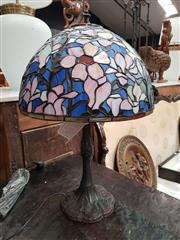 Sale 8717 - Lot 1037 - Leadlight Shade Table lamp