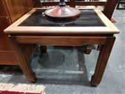 Sale 8893 - Lot 1023 - Oriental Style Glass Top Side Table