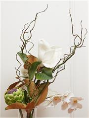 Sale 9081H - Lot 89 - A bunch of artificial magnolias and orchids together with an artichoke