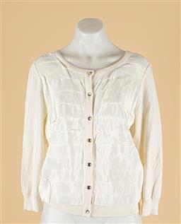 Sale 9260H - Lot 332 - A Michael Kors off white cardigan with overlapping detail, size M.