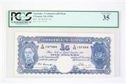 Sale 8835C - Lot 1 - A 1949 Commenwealth of Australia 5 Pound Bank Note (Graded R47, SCWPM# 27c)