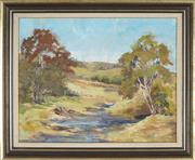 Sale 8891 - Lot 2066 - Olive McAleer (1933 - ) - Landscape near Thirlmere Lakes, Picton 39 x 49 cm