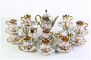 Sale 8948 - Lot 17 - Italian floral and gilt part tea setting for 12