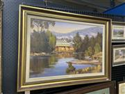 Sale 9016 - Lot 2022 - Werner Filipich (1943 - ) Afternoon Light, Country NSW oil on canvas on board, 63 x 92m (frame) signed -