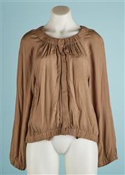 Sale 9071F - Lot 57 - A TRENERY KHAKI WAIST JACKET; with elasticised collar waist and cuffs, size M