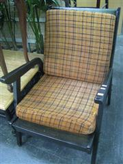 Sale 7933A - Lot 1167 - Pair of Black Framed 70s Armchairs