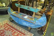 Sale 8380 - Lot 1031 - Contemporary Two Seater Bench in Canoe Form