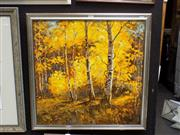 Sale 8417T - Lot 2019 - Artist Unknown - Golden Forest 60 x 60cm
