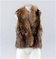Sale 8760F - Lot 28 - A Lisa Ho fur vest/gilet with silk lining, size 3 (would fit a 2 also), with original box