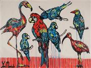 Sale 8837A - Lot 5019 - Yosi Messiah (1964 - ) - Red Parrot 91.5 x 122cm