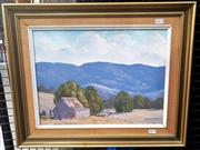 Sale 9061 - Lot 2003 - Henry Dunne Old Shed at Jamberoo 1975, oil on canvas board, frame: 42 x 54 cm, signed and dated lower right