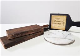Sale 9254 - Lot 2191 - A collection of four various cheese boards inc. two rustic timber examples