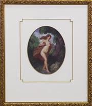 Sale 7379B - Lot 86 - Norman Lindsay- Untitled, oil on board, 27x 17cm, signed lower right. Certificate Attached