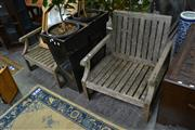 Sale 8054 - Lot 1021 - Pair of Timber Outdoor Chairs