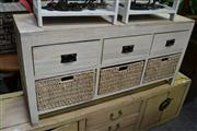 Sale 8147 - Lot 1098 - White Painted Sideboard