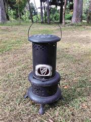 Sale 8579 - Lot 74 - An antique Valor portable fire heater painted black, H 50cm