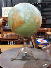 Sale 8765 - Lot 1084 - Antique World Globe on Brass Stand