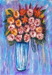 Sale 8998 - Lot 2027 - Stanley Perl (1942 - ) - Flowers in a Vase 51 x 41 cm (total: 51 x 41 x 2 cm)