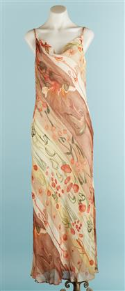 Sale 9071F - Lot 23 - AN ALLURE COWL LENGTH MAXI DRESS; in a floral dreamy pattern, lined and with spaghetti straps, size 8