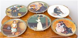 Sale 9103M - Lot 710 - A collection of wall plates by Knowles depicting various figural works by Norman Rockwell. Diameter 21cm